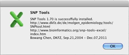 Install SNP_Tools in Windows Vista + Excel 2007