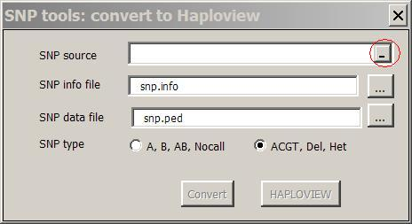 How to convert your own SNP data into Haploview format by SNP tools